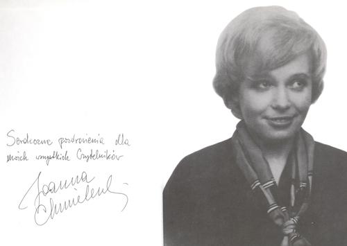 J. Chmielewska autograf